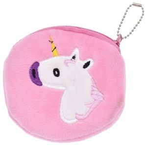 LAST ONE! Small coin purse w/unicorn (pink)